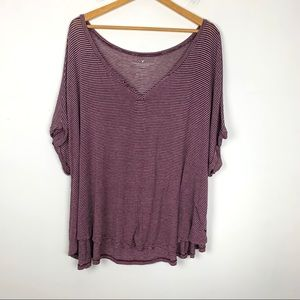 American Eagle Outfitters Top Size XL Striped